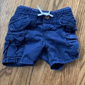 Gap Navy Cargo Shorts 6-12 Months